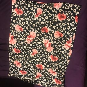 Torrid Animal Print & Floral Skirt